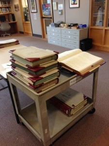 Archival research, old-school, at Washington State Archives.