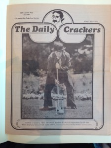 The Daily Crackers menu (Olympia), courtesy The Seattle Public Library