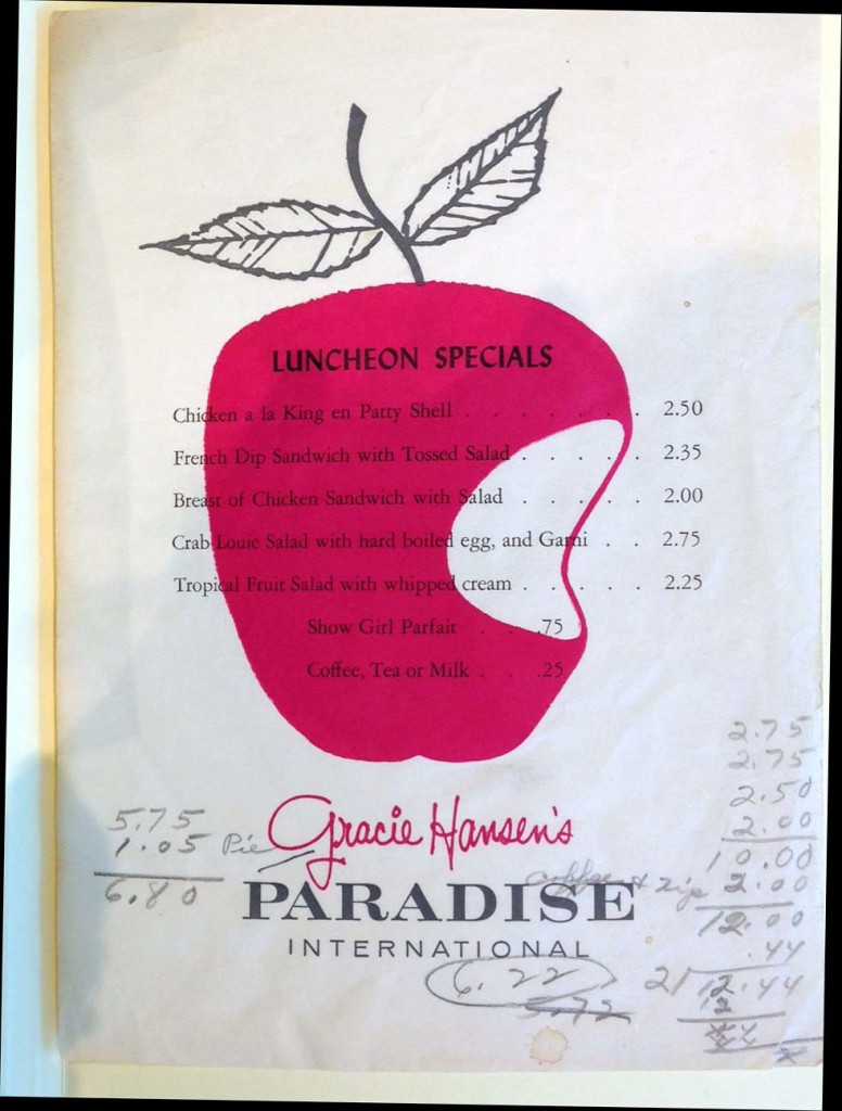 Lunch at Gracie Hansen's Paradise International, 1962 Seattle World's Fair, Courtesy The Seattle Public Library