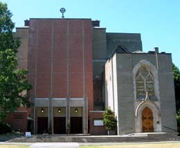 St. Mark's Episcopal Cathedral, Seattle. Entrance to Thomsen Chapel on right.