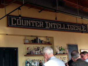 Cafe Counter Intelligence's old counter, now officially Art.