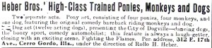 Trained ponies, anyone? The Billboard, 1938.
